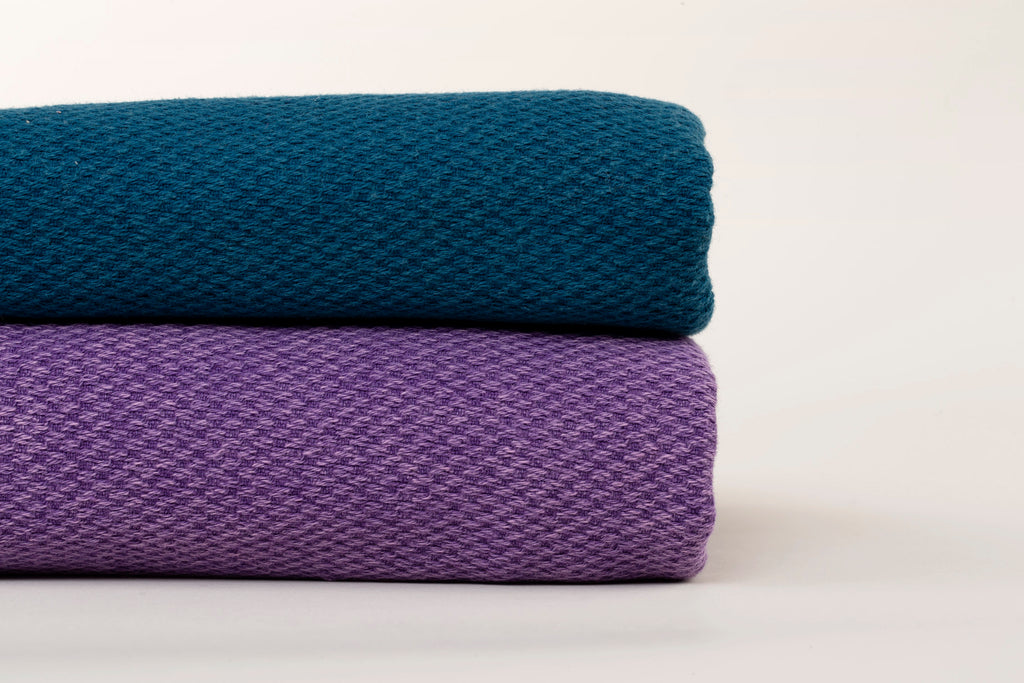 "Turkish Towel ""Peshtemal"" - Stonewashed Cotton - Purple"