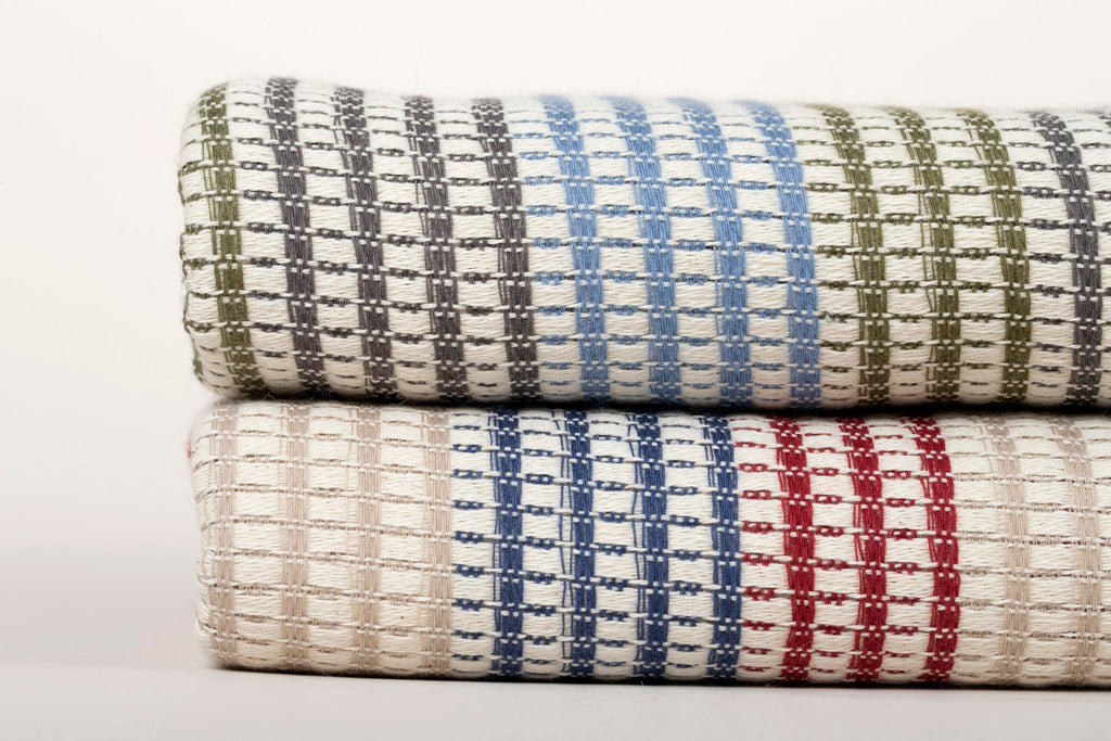 "Turkish Towel ""Peshtemal"" Black,green,blue with Multicolour Stripes"