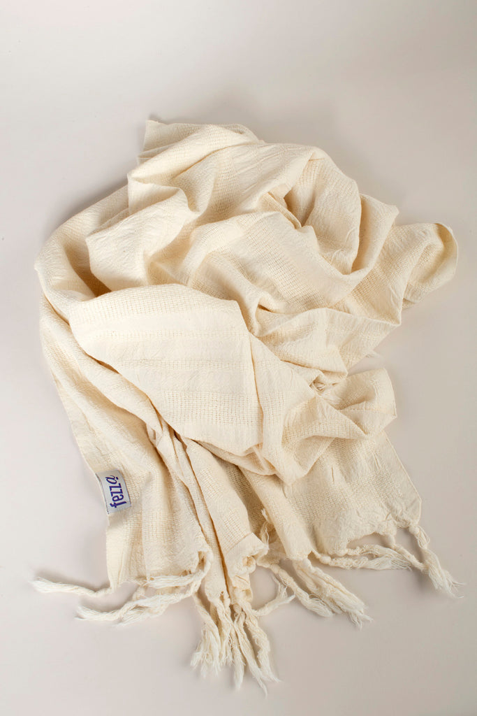 "Turkish Towel ""Peshtemal"" - Stonewashed Cotton - Grey"