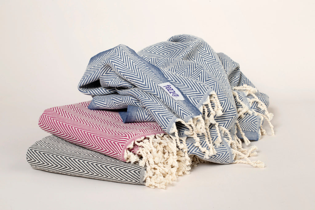 "Turkish Towel ""Peshtemal"" - Herringbone pattern"