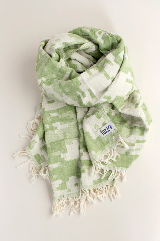 "PATTERNED Turkish Towel ""Peshtemal"" -Camouflage"