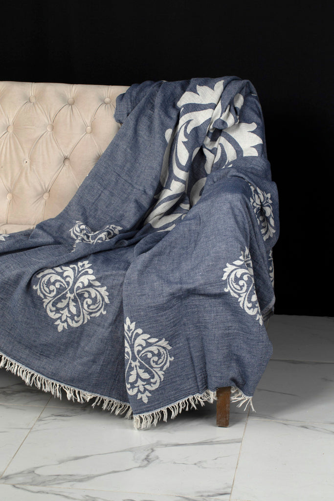 "PATTERNED Turkish Towel ""Peshtemal"" - Vintage Throw"