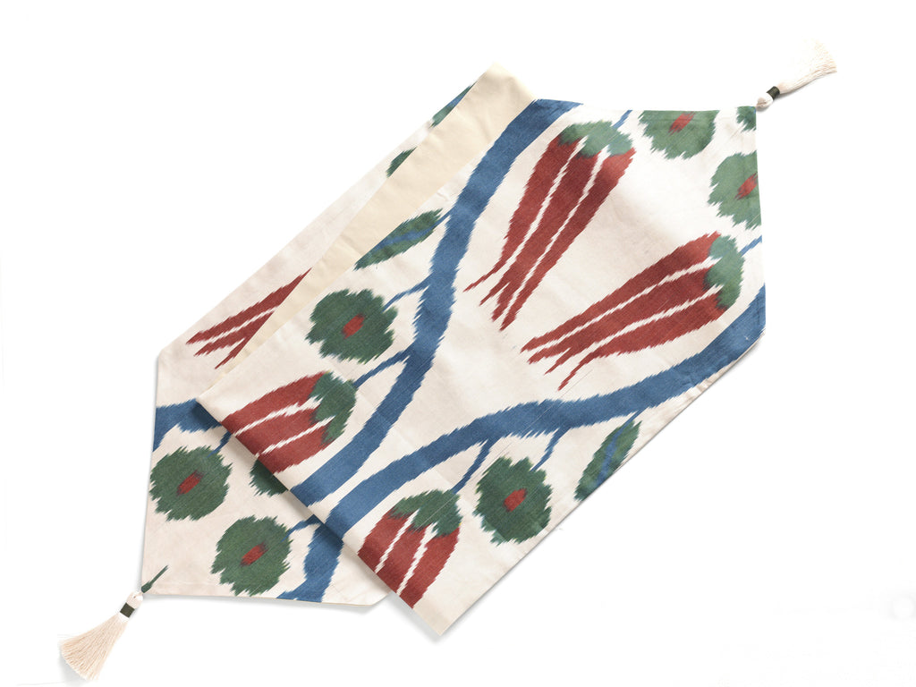 SILK IKAT TABLE RUNNERS - CHECK OUT THE BEAUTIFUL COLORS & PATTERNS