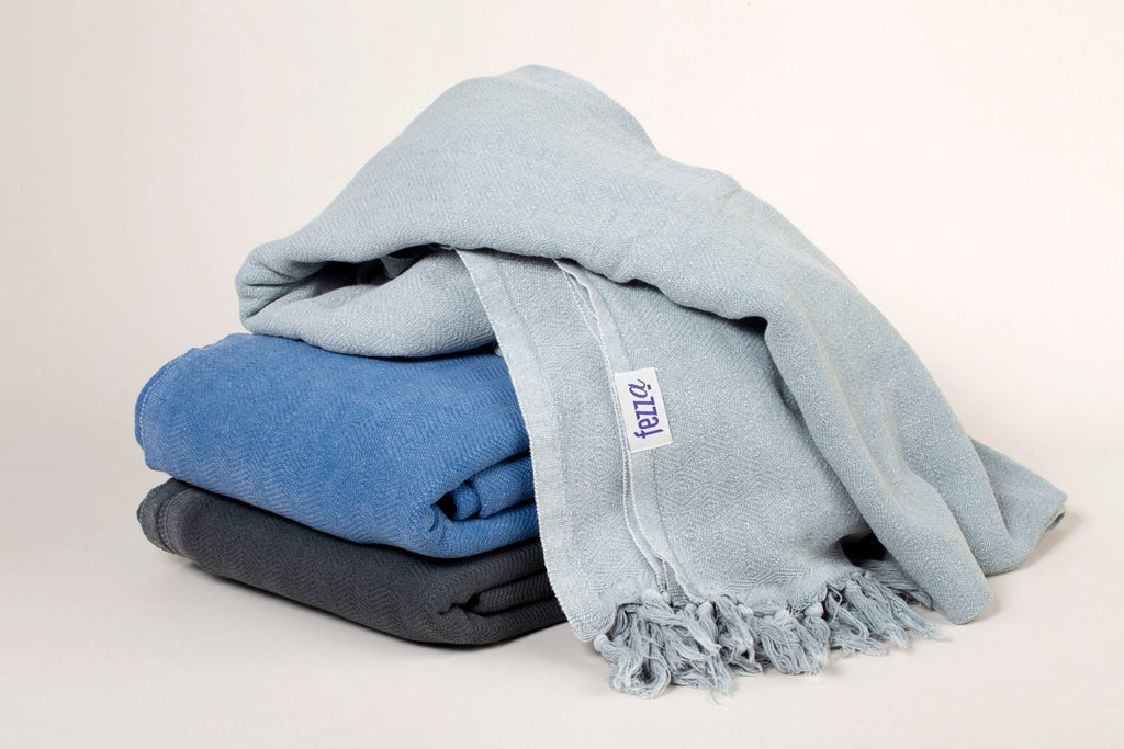 Stone-washed Cotton Throw Blankets 180 x 230
