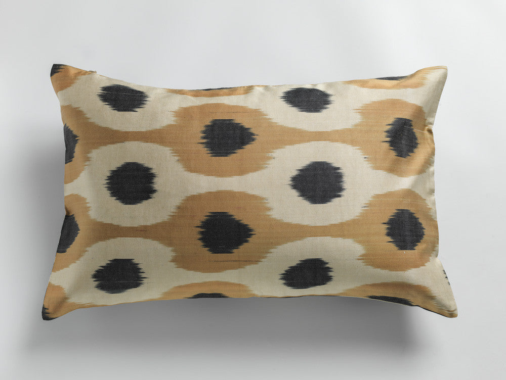 SILK IKAT PILLOWCASES - SINGLE SIDE - CHECK COLORS 40x60