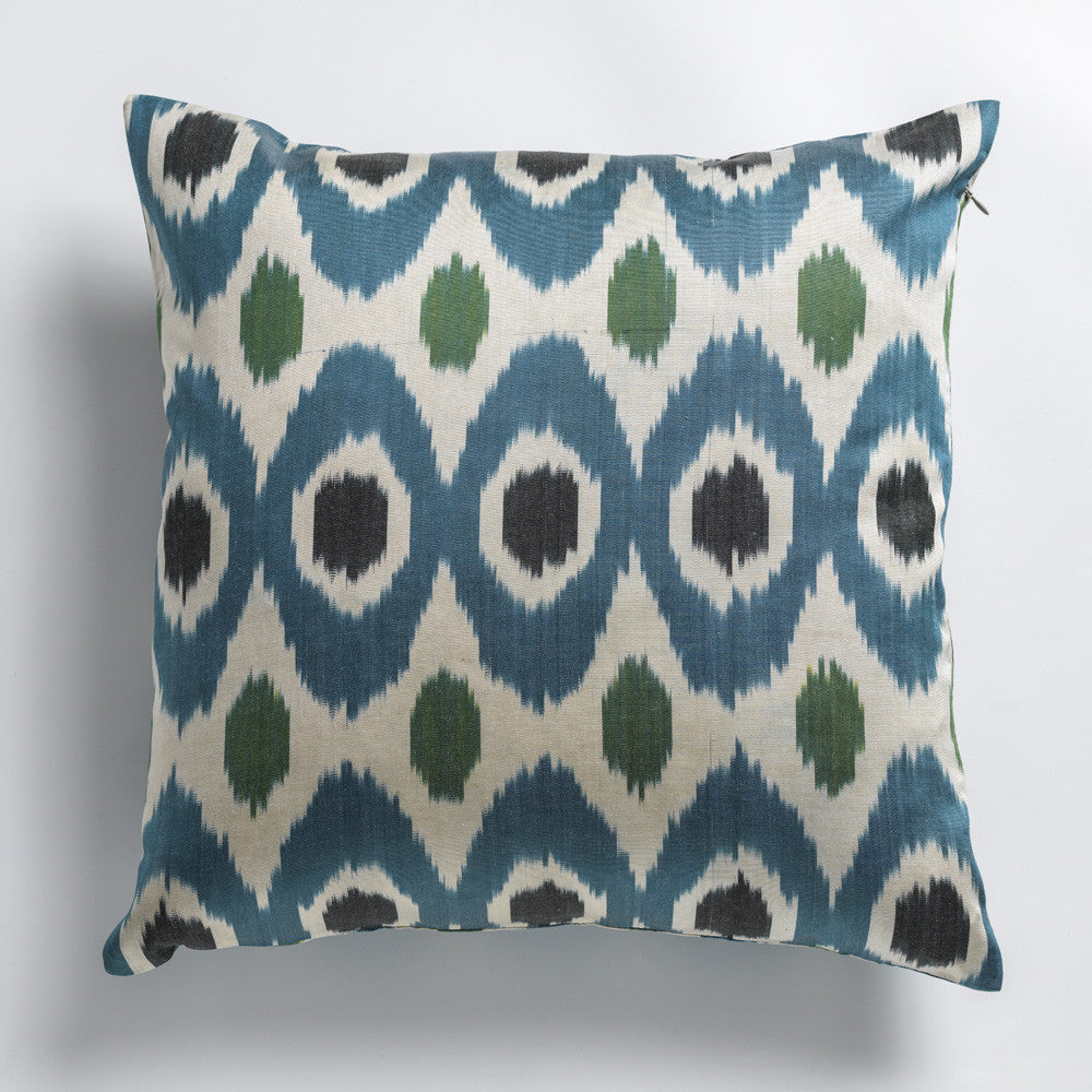Silk Ikat double-sided pillow cases 50cm x 50cm - check out the beautiful colors!