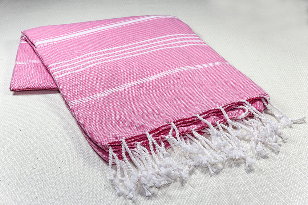 "Turkish Towel ""Peshtemal"" - Sultan - Fuchsia"