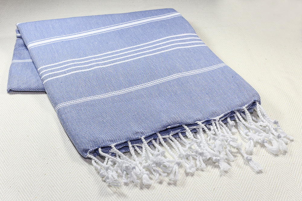 "Turkish Towel ""Peshtemal"" - Sultan - Blue"