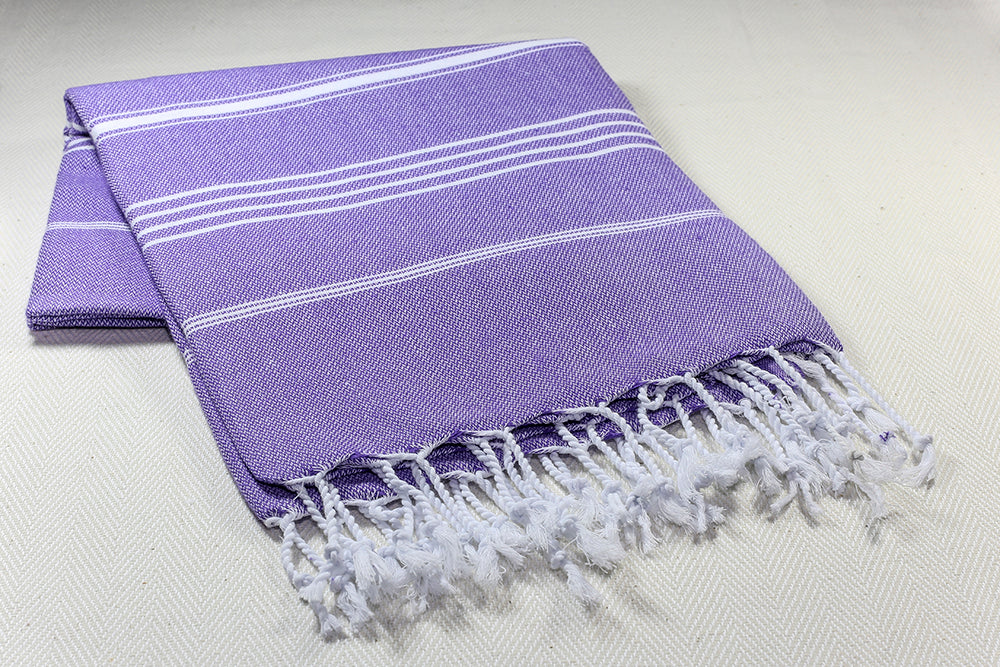 "Turkish Towel ""Peshtemal"" - Sultan - Purple"
