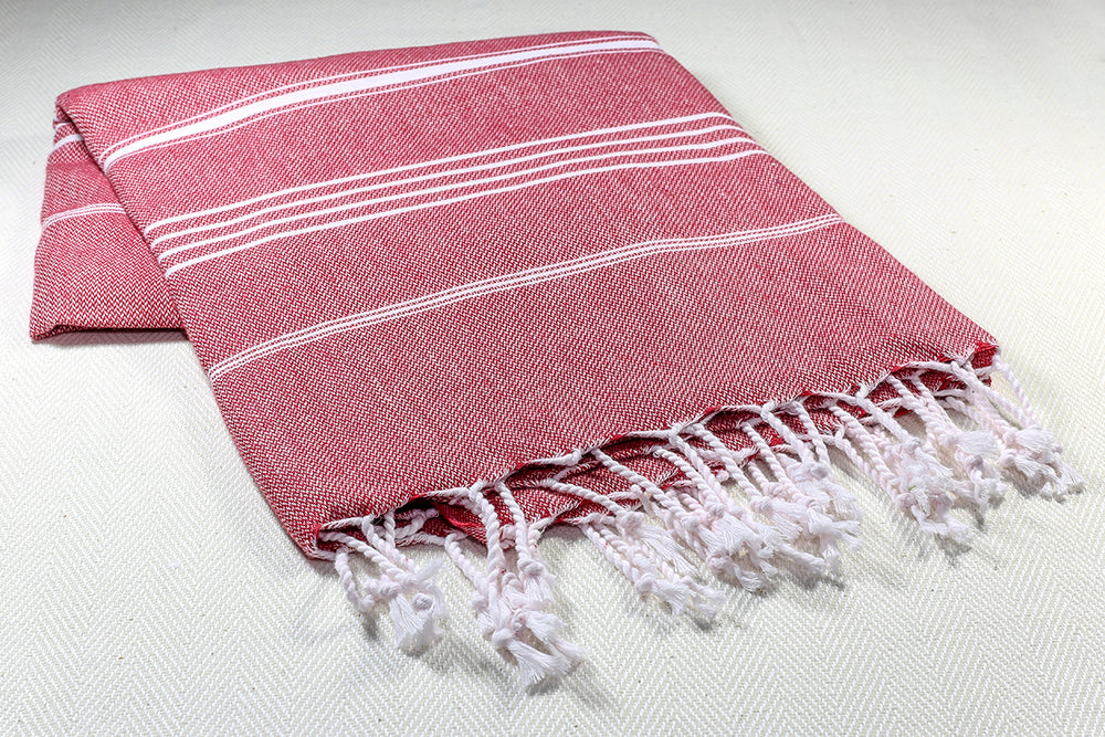 "Turkish Towel ""Peshtemal"" - Sultan - Red"