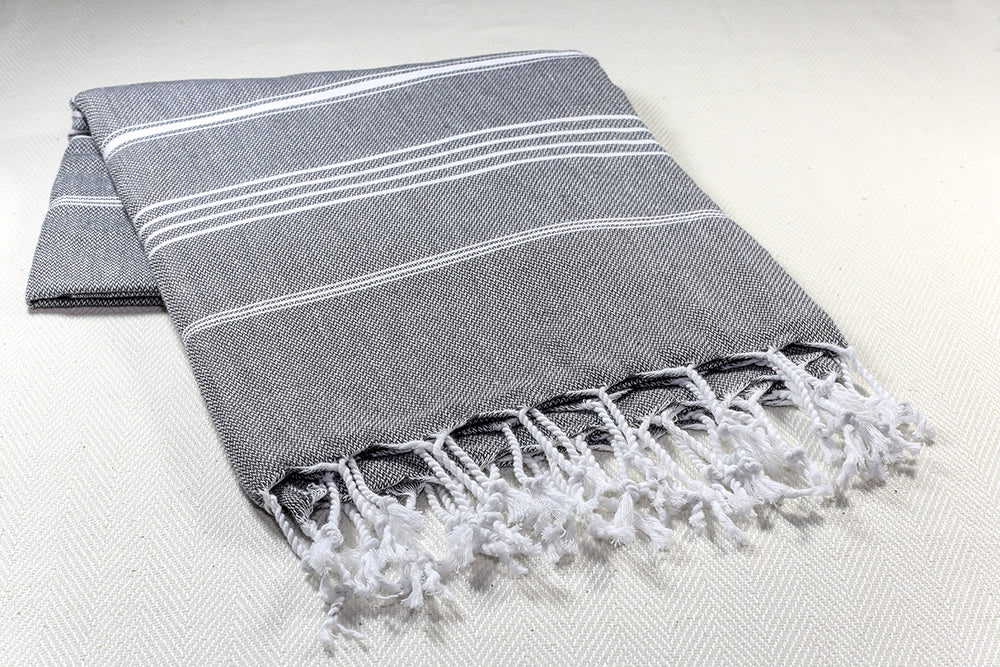 "Turkish Towel ""Peshtemal"" - Sultan - Dark Gray"