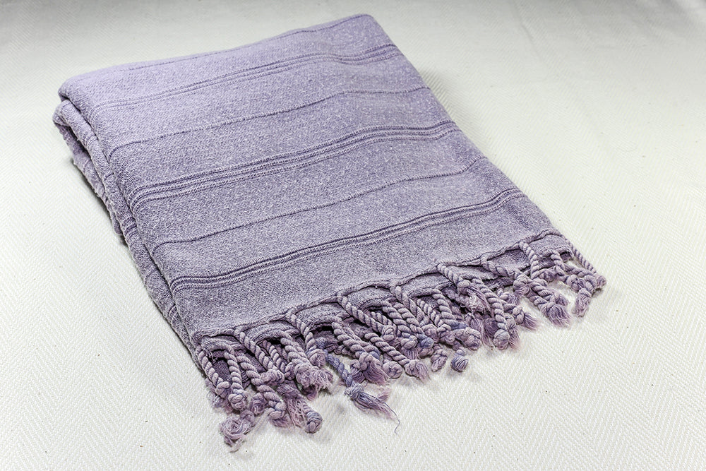 "Turkish Towel ""Peshtemal"" - Stonewashed Cotton - Lilac"