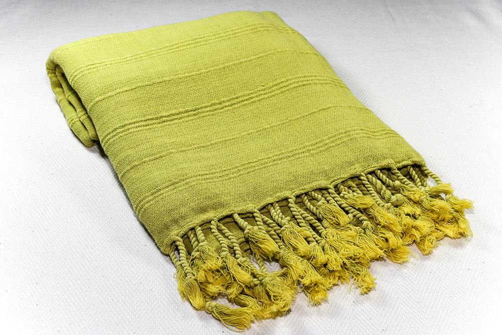 "Turkish Towel ""Peshtemal"" - Stonewashed Cotton - Green"
