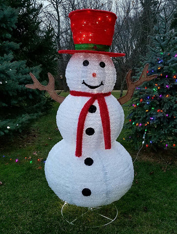 ese pre lit led lighted pop up snowman sparkling christmas indoor outdoor - Pop Up Pre Lit And Decorated Led Christmas Tree