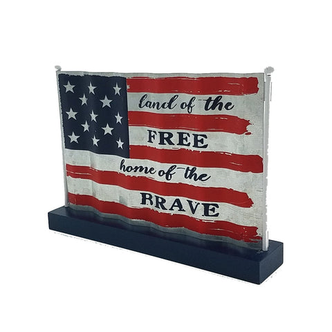 Patriotic Metal USA American flag taple top