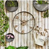 Galvanized Metal Round wall decoration, hanging planter