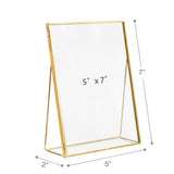 Moderned Tabletop Picture Frame Tempered Glass Hinged Cover