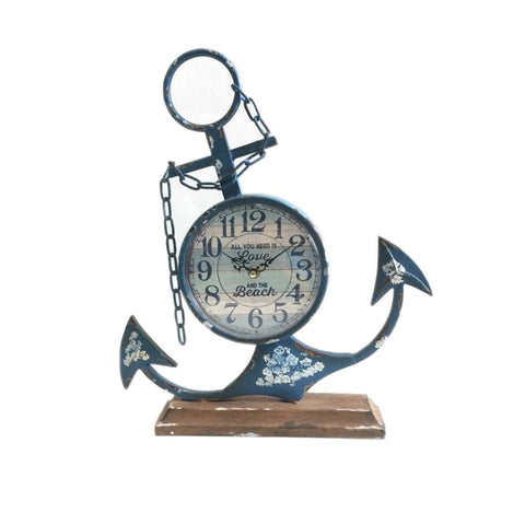 Nautical Metal Anchor  Vintage Clock,