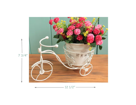 Metal bicycle flower planter stand