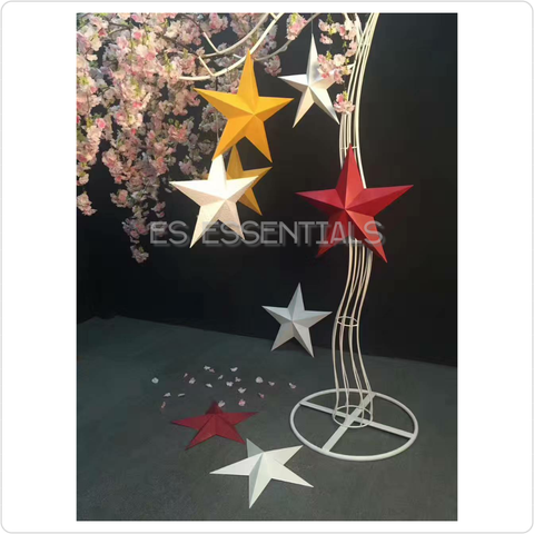 Metal star Wall decor, 19-1/2""