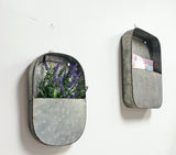 Metal Storage wall decor, Flower planter set 2 asst