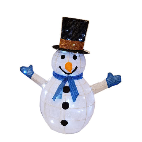 "LED LIGHTED PRE-LIT 3-D  SNOWMAN, SPRAKLING, CHRISTMAS DECORATION, 24""H, LED LET IT SNOW WOOD SIGN"