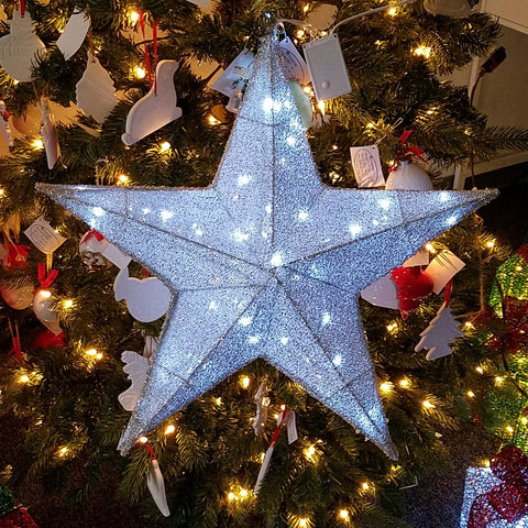 ese led lighted christmas pre lit 3 d hanging twinkle star sparkling - Hanging Lighted Christmas Decorations