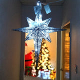 LED Lighted Christmes Moravian Star Silver 24""