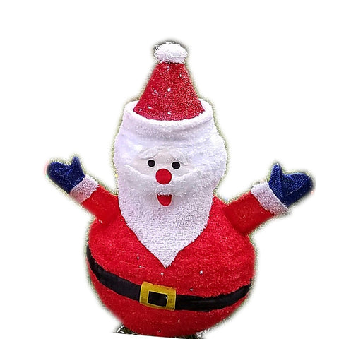 LED Lighted Pop-Up Santa