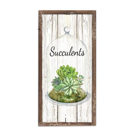 ESE Wood frame with saying Succulent