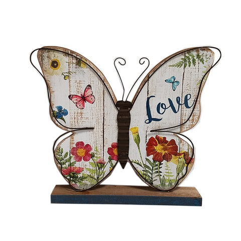 Wood butterfly table top-LOVE