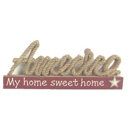 "ESE Table Décor "" America my home sweet home"", 15"""