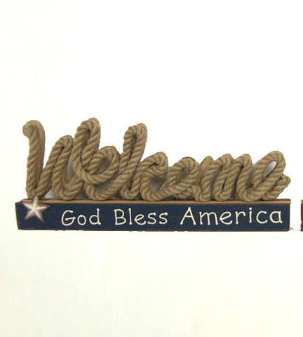 "ESE Table Décor ""Welcome God Bless America"""