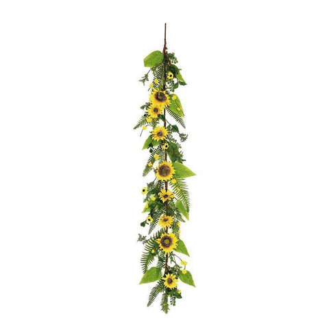 Sunflower Garland & Blossom GARLAND, 5'