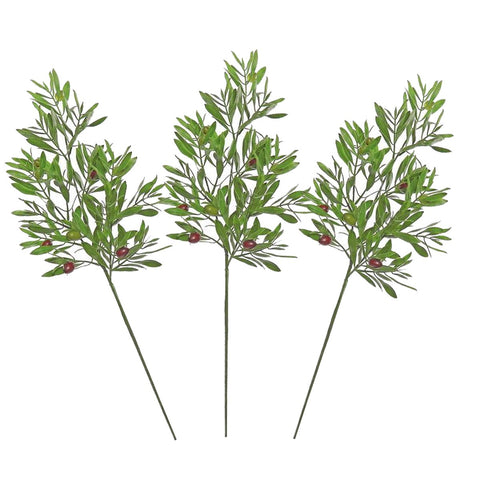 3PCS OF  OLIVE LEAF & SEEDS SPRAY, 25""