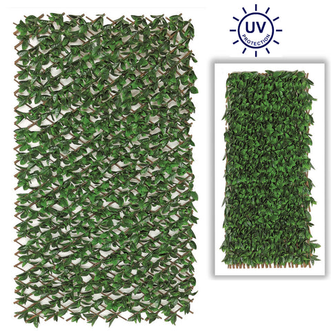 Artificial Beach Leaf Accordion Expandable Wall Willow Composite Fence Panel