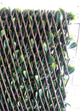 Artificial Laurel Leaf Accordion Expandable Wall Willow Composite Fence Panel
