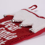"Christmas Hooked Stocking  ""Dear Santa I Want It All"" 18.9""H"