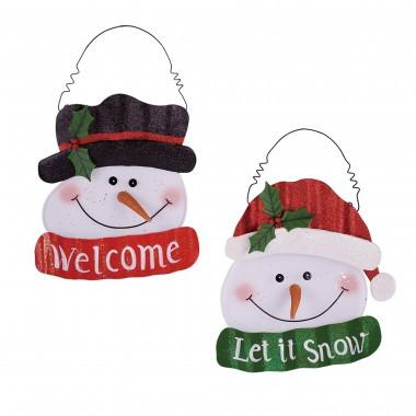 "Christmas Metal Mesh Snowman Wall Décor,15.35""H"