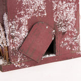 Christmas Distressed Wooden Snowy Birdhouse