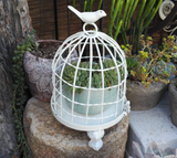 Metal Birdcage Table Top Decoration., 2 asst