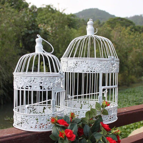 Metal Birdcage Table Top  Hanging decoration, 2 asst.