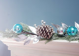 6' Christmas Ornament Pinecone  Berry Garland