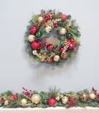 6' Christmas Decorated Berry Ornaments Garland
