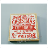 "Christmas Rectangle Wooden Frame Word Sign,13.45""H, ""The Night Before Christmas"""