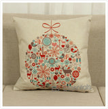 "Cotton Linen Decorative Pillow case 18"" Christmas  Ornaments"