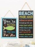 "ESE  Handcrafted Wooden Chalkboard Fish Hanging Sign 15"" ""you are the only fish in the sea for me"""