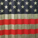 Patriotic Metal USA American flag wall décor with wood frame, 32.5""