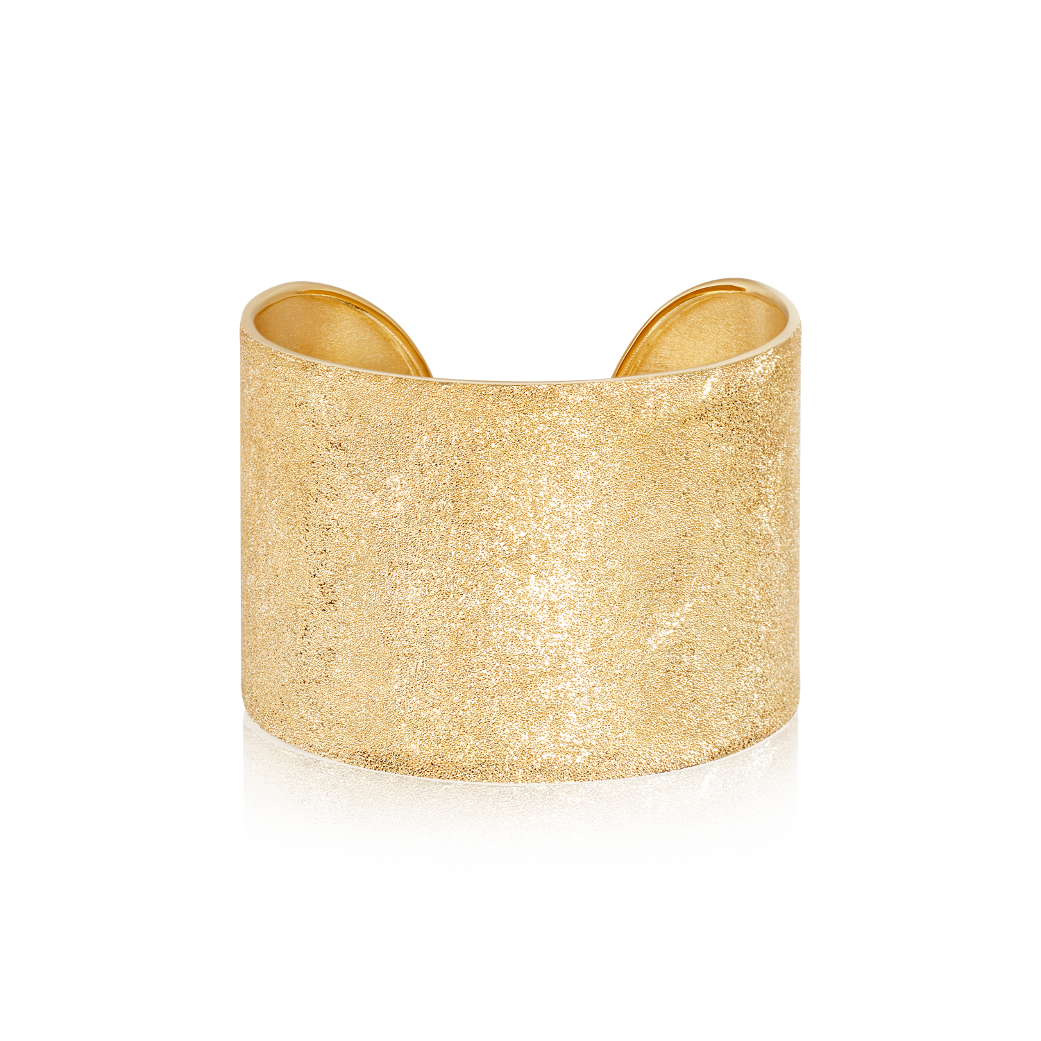 Florentine Finish CFF Thick Cuff Yellow Gold