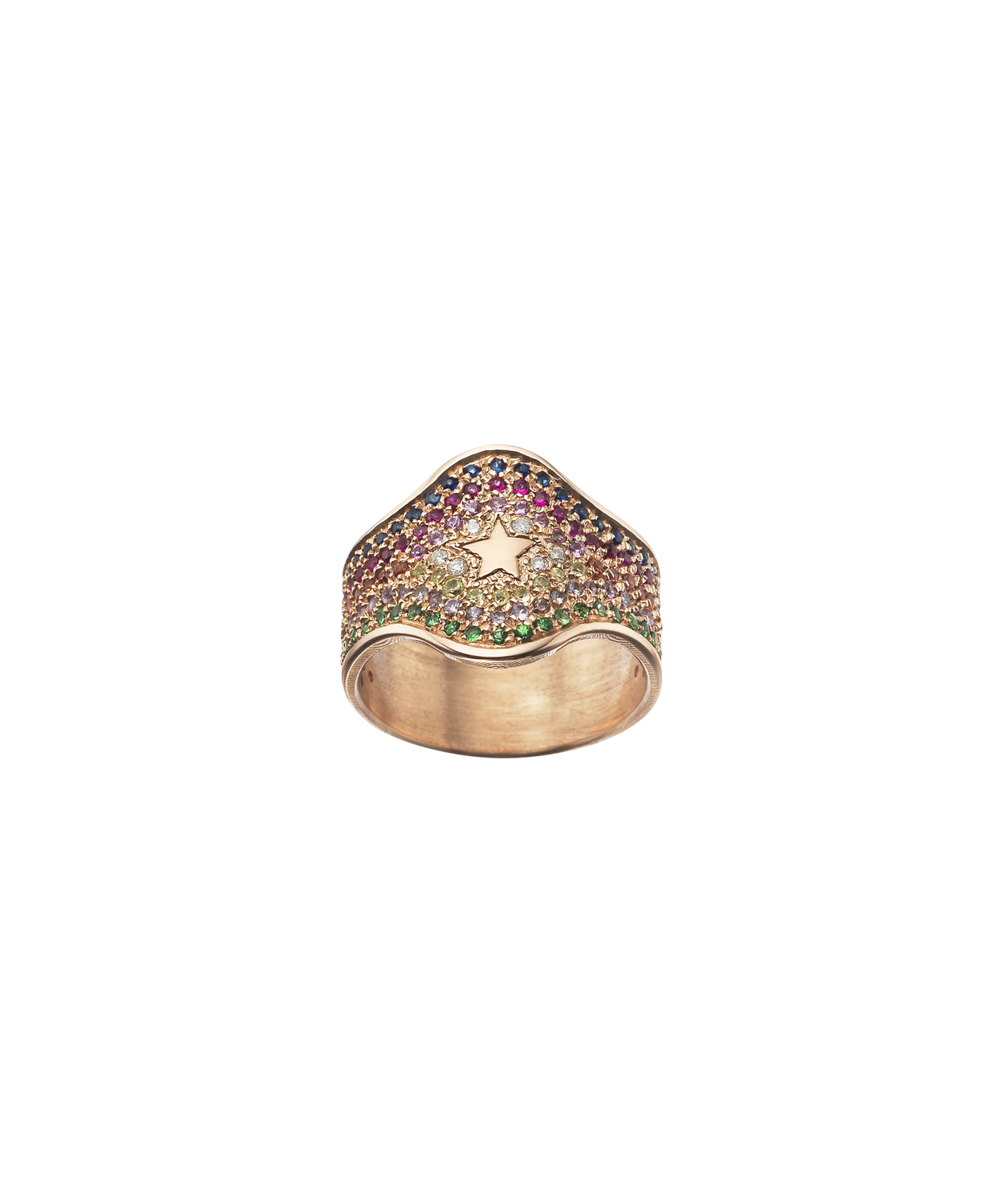 Carolina Bucci Summer Pavé Shield Ring